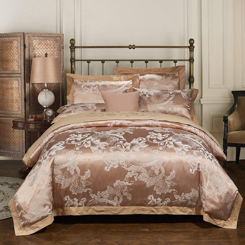 Papa&Mima Goose yellow Jacquard Bedlinen Bedding Sets Queen King ... : jacquard quilt cover sets - Adamdwight.com