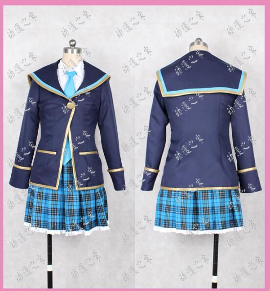 Anime Girl Friend BETA cosplay Sakurai Akane cosplay Japanese Institute College uniforms girls costume coat+shirt+skirt+tie+sock