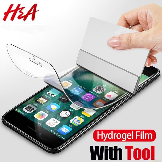 6D Com Ferramenta Cobertura Completa Protetor de Tela Film Para iphone X Xs Max Xr Hidrogel No Para O iphone 6 6 S 7 8 Plus X Filme