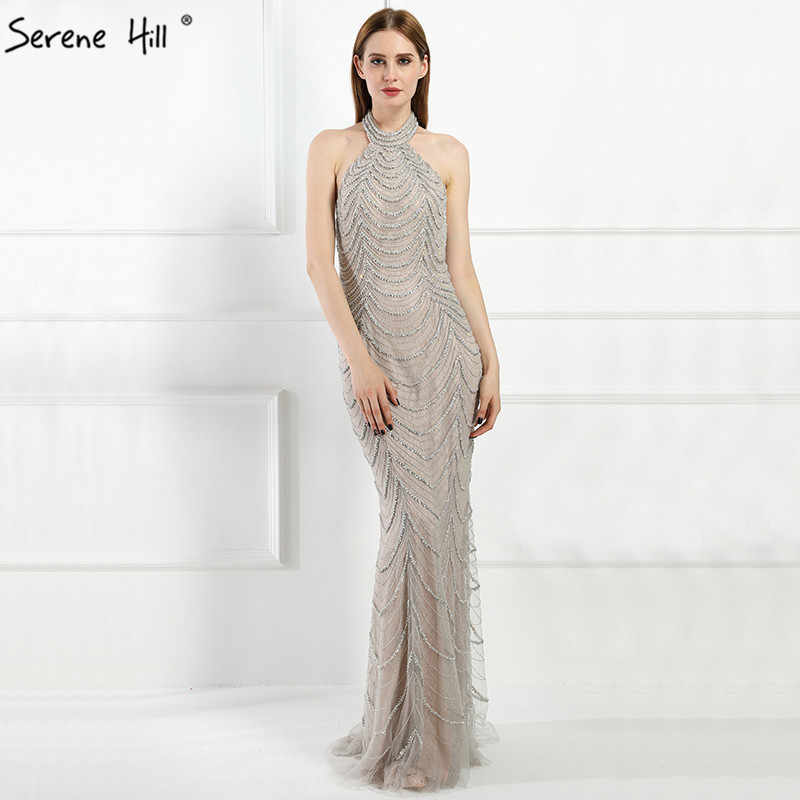 Halter Backless Sexy Diamond Mermaid Evening Dresses Long Elegant Evening  Gowns 2019 Real Photo LA6101 1dd28ce1cdf9