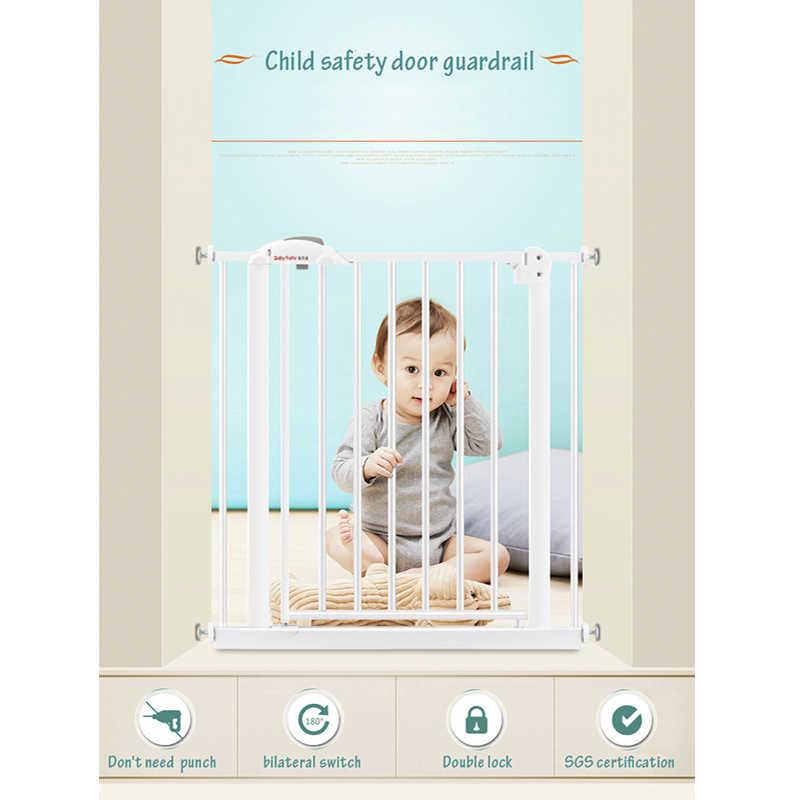 จัดส่งฟรี! 95-194 ซม.เด็กความปลอดภัยประตูบาร์,ราวบันไดรั้วสัตว์เลี้ยงสุนัขรั้วแยกเหล็กประตูบันไดประตู