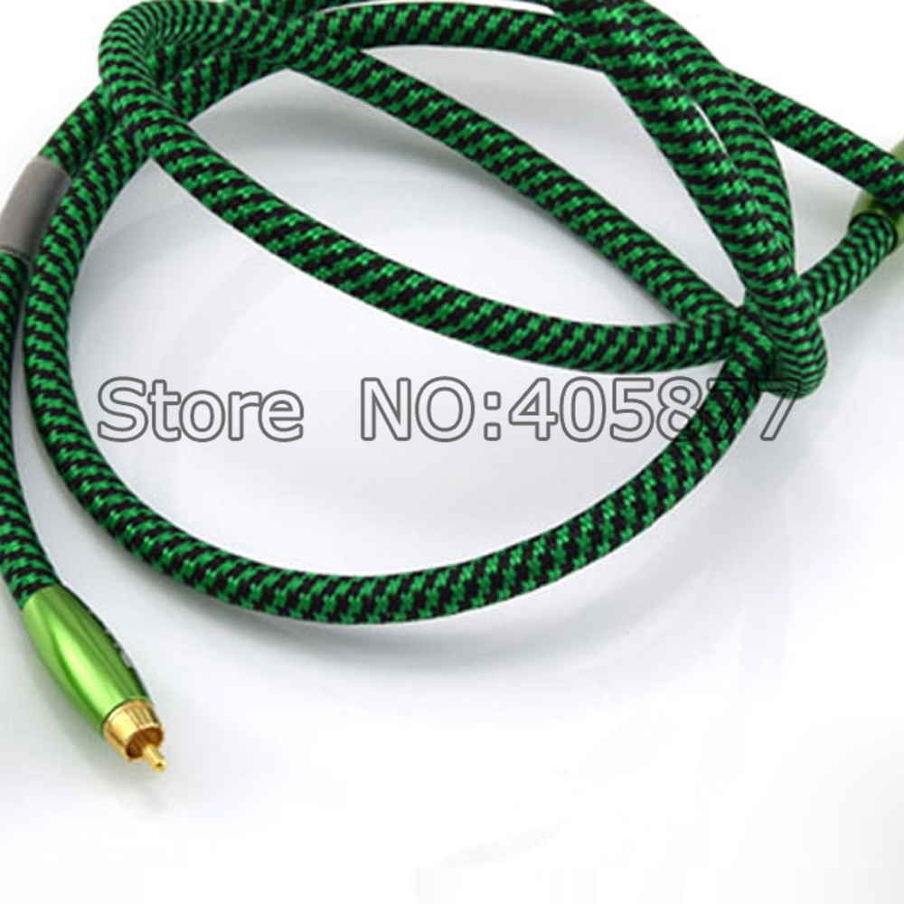 Viborg Silver Plated RCA Audio Cable Green RCA Interconnect Cable 1M pair viborg audio pure silver plated rca audio cable 1m rca interconnect audio cable