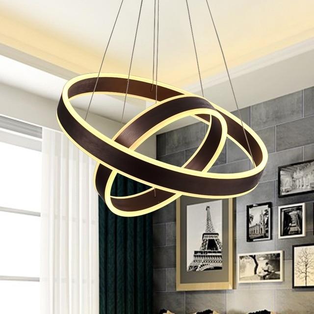 Moderne Wohnzimmer Kronleuchter Esszimmer Schlafzimmer Led Kronleuchter  Acryl Licht Dimmer Kreisring Kreative Chandelierac85 265v