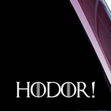 "HODOR! FUNNY High Quality Precision 8"" die cut vinyl Sticker decal for windows car trucks tool boxes laptop noteBook NOT PRINTED"