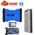 Дешевый Синий Цвет Tcs cdp Bluetooth 2014.3 программного обеспечения cdp пластиковый чемодан автомобилей Грузовики диагностический инструмент Бесплатная Доставка