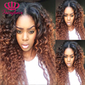 7A #1b/#33 Ombre Curly Glueless Synthetic Lace Front Wigs Ombre Lace Front Synthetic Wigs Two Tone Color Kinky Curly Hair Wig