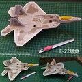 Militar de stealth fighter F22 Raptor modelo de papel tridimensional brinquedo versão simples
