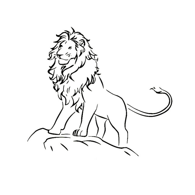 16x14 3cm Lion At The Top Of The Mountain Stare Funny Vinyl Decal