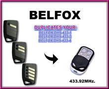 BELFOX DHS 433-1, 433-2, 433-4, DHS433(7733)  433.92mhz fixed code Remote Control Duplicator