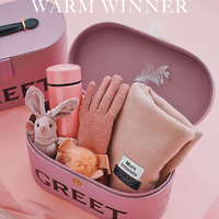 1pcs Special Scarf Gloves Cup suitcase Set love couples women man birthday warm gift boyfriends girlfriends special gifts idea