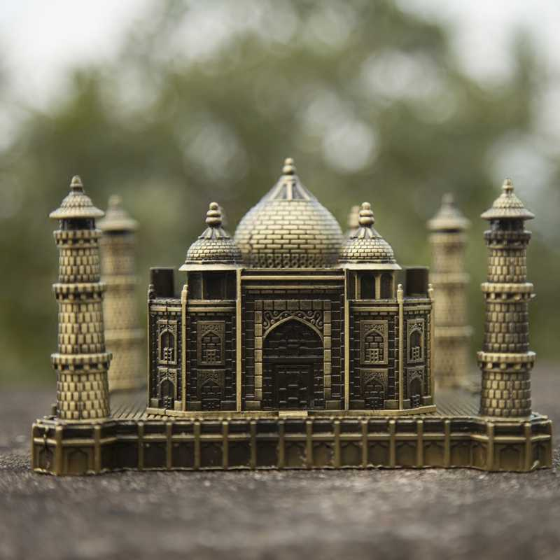 Taj Mahal Model of Metal India Tourist Souvenirs Wedding Anniversary Gift Creative Statue Building Decoration Crafts Figures