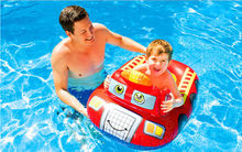 Funny Shape Cartoon Children Baby Swimming Pool Swim Seat Ring Float Kids Rattle inside Fire Rescue Patrol Boat Trainer Water