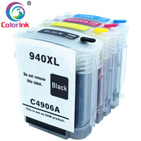 ColoInk 4Pack for HP 940XL C4906A C4907A C4908A C4909A For HP Officejet Pro 8000 8500 호환 잉크 카트리지 교체 잉크
