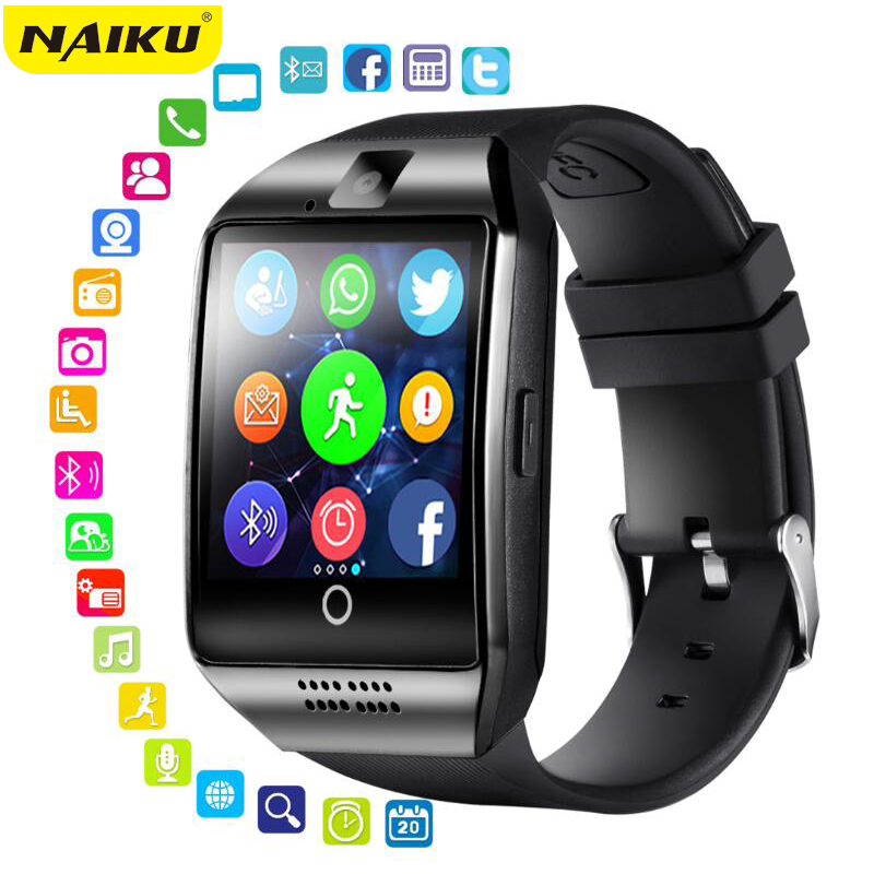 NAIKU Smart Watch With Camera, Q18 Bluetooth Smartwatch SIM TF Card Slot Fitness Activity Tracker Sport Watch For Android