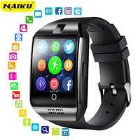 NAIKU Astuto Della Vigilanza Con La Macchina Fotografica, Q18 Bluetooth Smartwatch SIM Slot Per Schede TF Per Il Fitness Activity Tracker Sport Orologio Per Android
