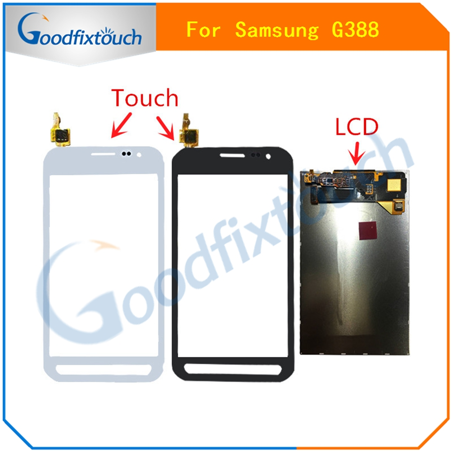For Samsung Galaxy Xcover 3 SM-G388F G388 G388F G389 Touch Screen Digitizer Sensor Glass + LCD Display Panel