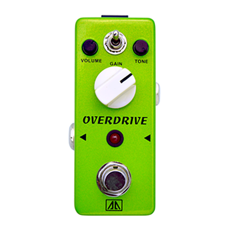 Over Drive Guitar Effect Pedal True bypass Vintage Tube-like Overdrive Tone AA Series Effects for Electric Guitar overdrive guitar effect pedal true bypass with 1590b green case electric guitar stompbox pedals od1 kits