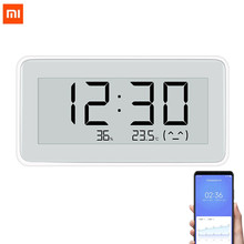 Xiaomi mijia bt4.0 무선 스마트 전기 디지털 시계 실내 및 실외 습도계 온도계 lcd 온도 측정 도구