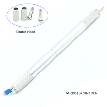 Manual Cosmetic Tattoo Eyebrow Pen Tattoo Machines For Permanent Makeup Both Head Available Tebori Pen With 2pcs Needle Blade