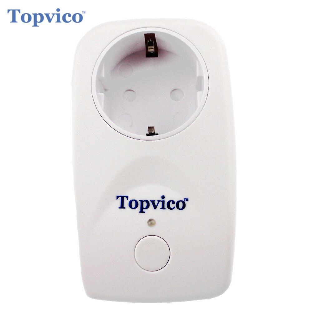 bilder für Topvico Z-welle Smart Power Steckdose Wireless Zwave Video-gegensprechhaussicherheitssystem Z welle Smart Home Alarmanlage Sicherheit Home Automation Haus sicherheit