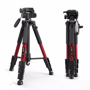 Image 2 - Yeni Zomei Tripod Z666 profesyonel taşınabilir seyahat alüminyum kamera tripodu aksesuarları standı Pan başkanı ile Canon Dslr kamera için