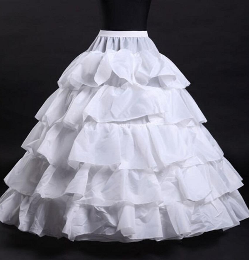 8ec8cd7b84 Petticoat For Wedding Dresses 5 Layers Women Underskirt White jupon  crinoline sottogonna hoop skirt hoepelrok-in Petticoats from Weddings &  Events