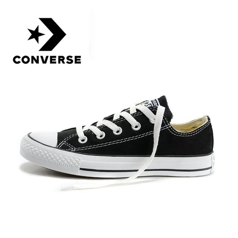 97c8c0e74c89a0 Converse All Star Classic Canvas Low Top Skateboarding Shoes Unisex White  Anti-Slippery Sneakser 35-44