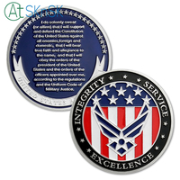 50/100pcs U.S. Air Force Oath of Enlistment Challenge Coin Motivational Navy Army Commemorative USAF Coin Souvenir Coins Gifts
