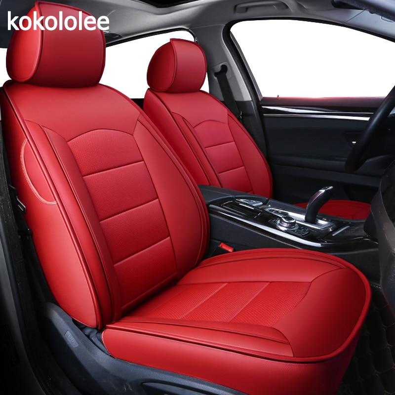 kokololee custom real leather car seat cover for Volkswagen vw Beetle Touareg Tiguan Phaeton EOS Scirocco