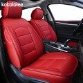Kokololee de real cubierta de asiento de cuero de coche para Volkswagen escarabajo vw Touareg Tiguan Phaeton EOS Scirocco R36 Multivan asientos de coche