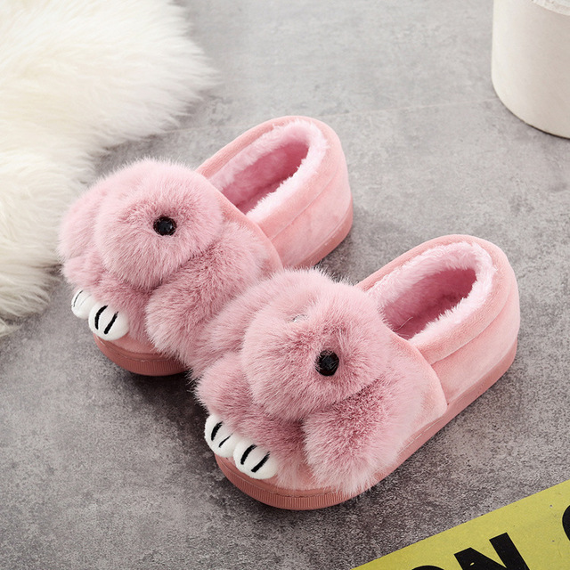 Children\'s Slippers Indoor Girls Kids House Shoes Warm Plush Boys ...