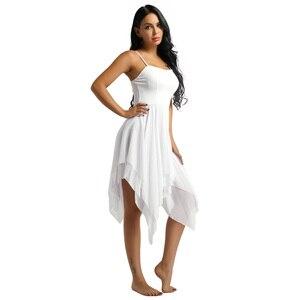Image 5 - IIXPIN kobiety asymetryczna sukienka do tańca szyfonowa balet taniec nowoczesny balowy współczesnej liryczny kostiumy do tańca baleriny balet sukienka