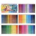 Качество художника 150 цветов лапы акварельные профессиональные мягкие водорастворимые цветные карандаши набор для художественного эскиза