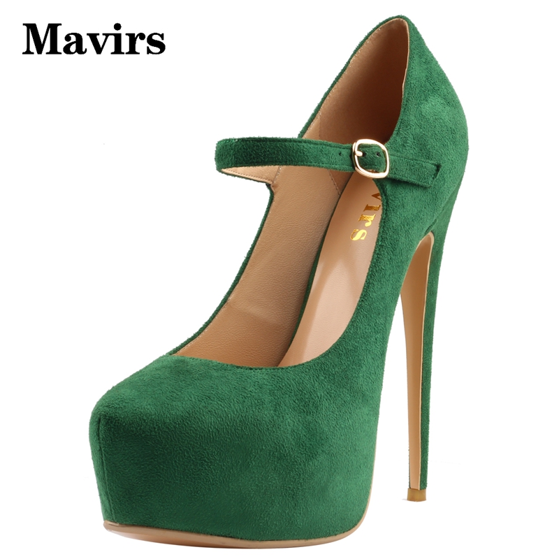 Mavirs 2017 Round Toe 15 CM Extreme High Heel Platform Pumps Mary Jane Flock Thin heels Handmade for Party Dress Wedding Shoes mary sterling jane algebra ii essentials for dummies