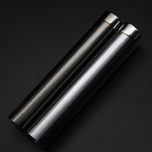Image 4 - New Strip Wheel ignition Torch Lighter Windproof Jet Turbo Pipe Lighter Metal Outdoor Cigar 1300 C Butane Gas Window No Gas