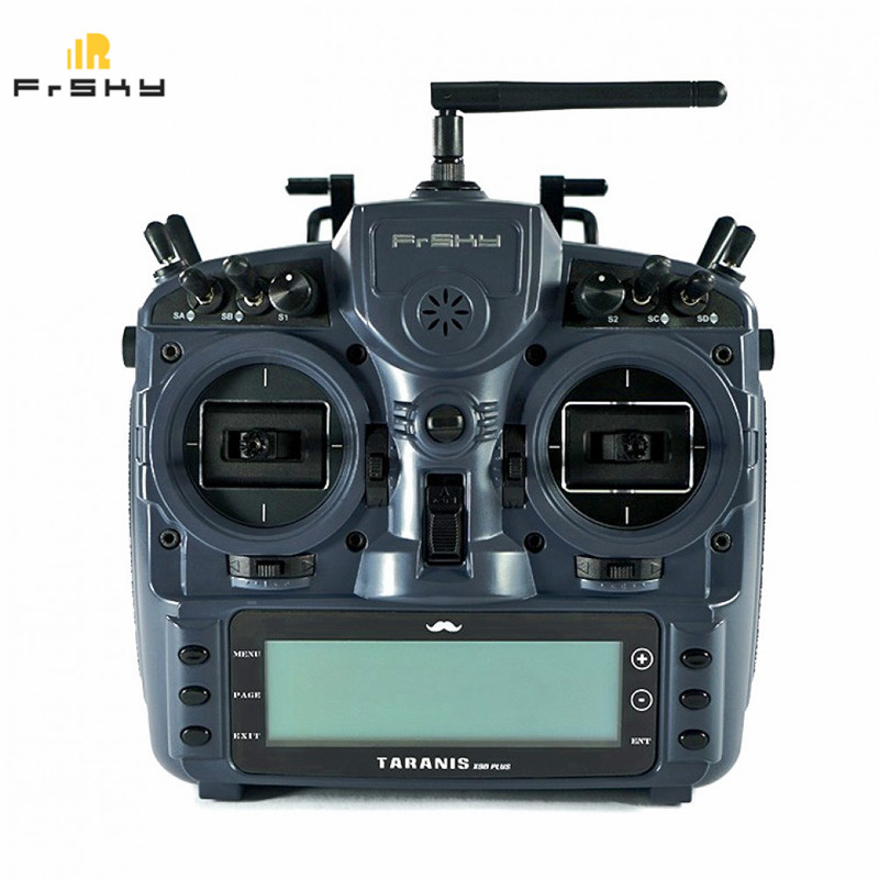 FrSky ACCST Taranis X9D PLUS Mr. Steele Special Edition 2.4GHz 16CH Transmitter Mode 2 with EVA Bag for RC Drone Multi Rotor att 290m 07 hex 02 attenuators interconnects 7db 18 ghz mr li