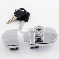 Hot 10sets Double Single Glass Cabinet Locks Shopping Mall Jewelry Showcase Display Lock Telephone Counter Lock