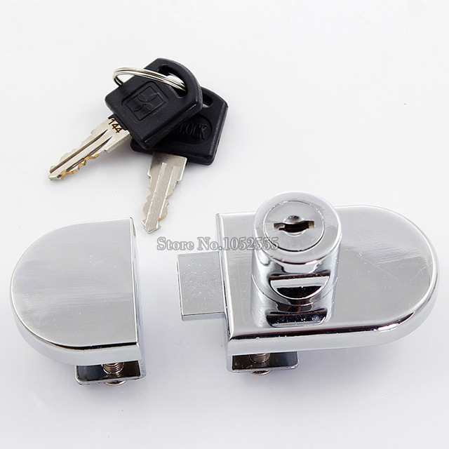 Hot 10sets Doublesingle Glass Cabinet Locks Shopping Mall Jewelry