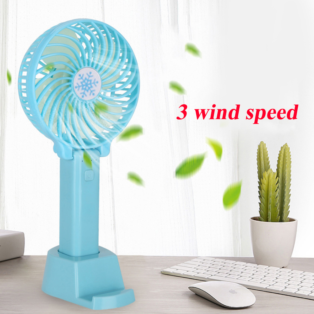 Summer Mini Cooler Handheld USB Portable Fan USB Rechargeable Folding Fan Travel Outdoor Home Office Quiet Collapsible Desk Fans
