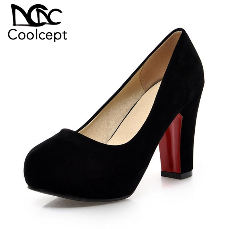 Coolcept Women Squaren High Heels Shoes  Nude Color Sexy Dress Lady Pumps Brand Heeled Footwear Heel Shoes Size 32-43 P19247Coolcept Women Squaren High Heels Shoes  Nude Color Sexy Dress Lady Pumps Brand Heeled Footwear Heel Shoes Size 32-43 P19247