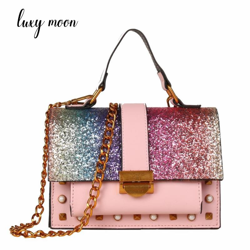 2018 popular Bling Bling small ladies messenger bags leather shoulder bags women crossbody bag for girl brand women handbags