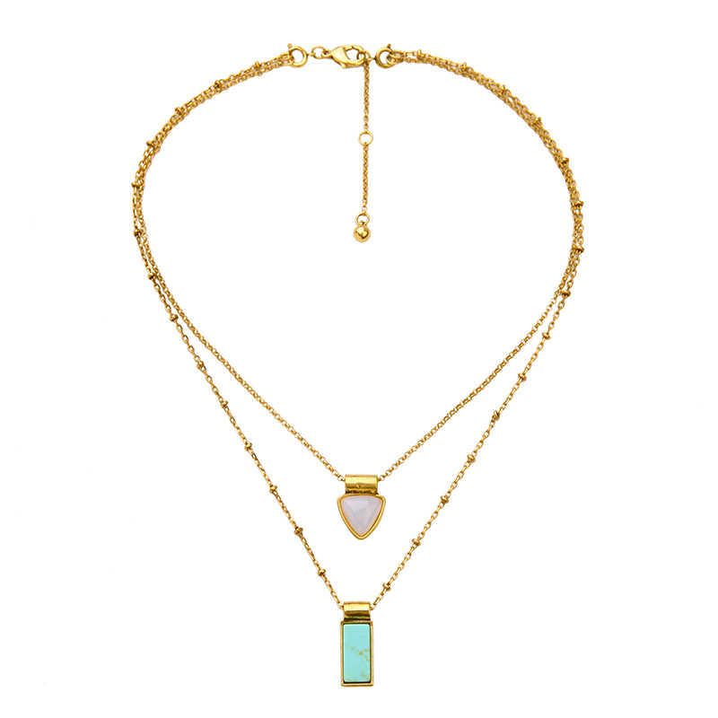 90d220d695 ... Online Shopping India Blue Necklace Gold Color Alloy Chains Brand  Jewelry New Arrival Layered Necklaces ...