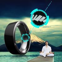 Waterproof Intelligent Digital Smart Ring NFC Wearable for NFC Black Mobile Phone