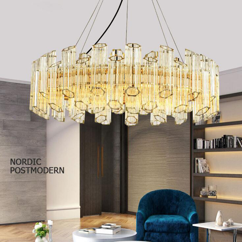 Nordic post-modern chandelier glass restaurant personality creative bedroom crystal lamp light luxury living room simple hanging