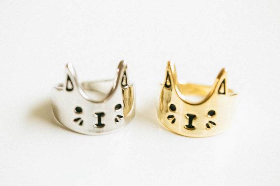 Fashion love cat ring,kitty ring,elephant ring