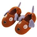 Cotton Winter Indoor Shoes  brown Boy's Home Dog Children Slippers Anti-Skid 3-8 Years TCCS6078