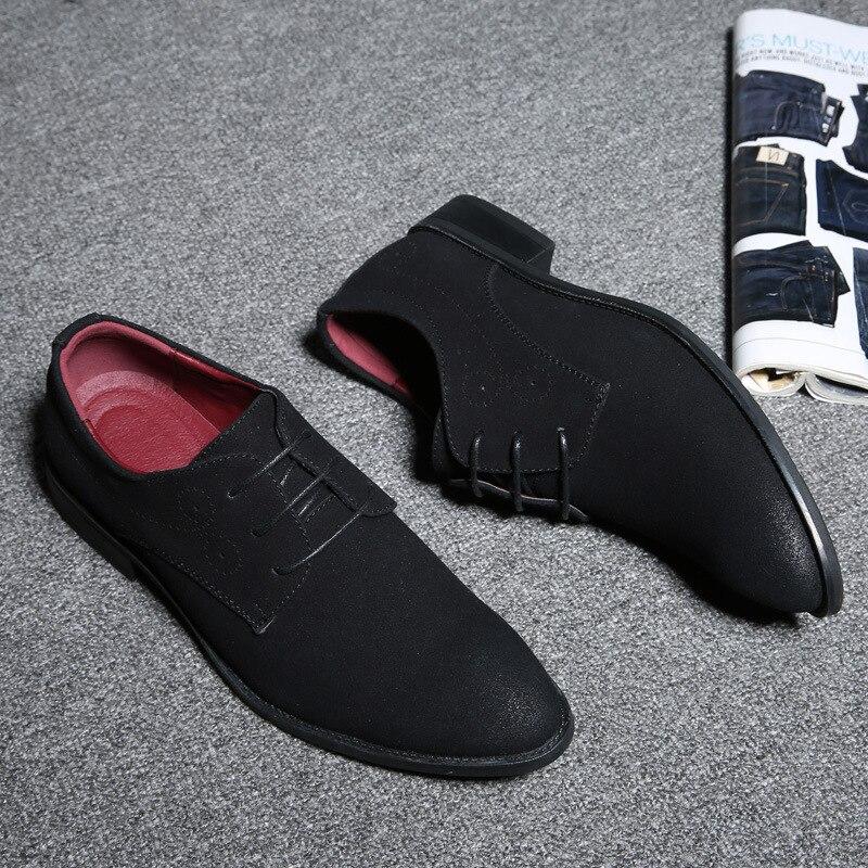 Puntiagudos Hombres Nocturno De Club Herramientas azul rojo Gran 2018 gris 38 Moda Los Tamaño Ocio Negocios Conducción Negro 48 Cuero Zapatos Casuales wnSfqxq
