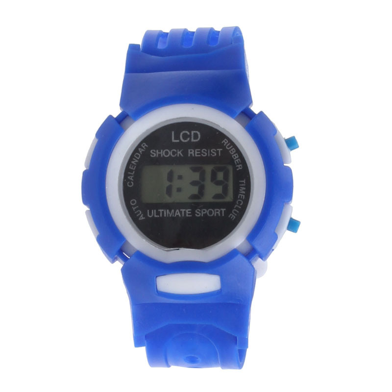 2015 Free Shipping! Kids Student Time Clock Electronic Digital Watch LCD Display Teenager Wristwatch Gifts For Your Girls Boys