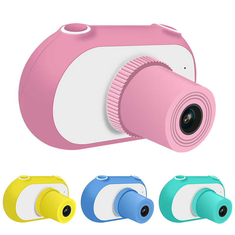 2019 1.5 Inch 1080P Mini LSR Cam Digital Camera for Kids Baby Cute Cartoon Multifunction Toy Camera Children Birthday Best Gift