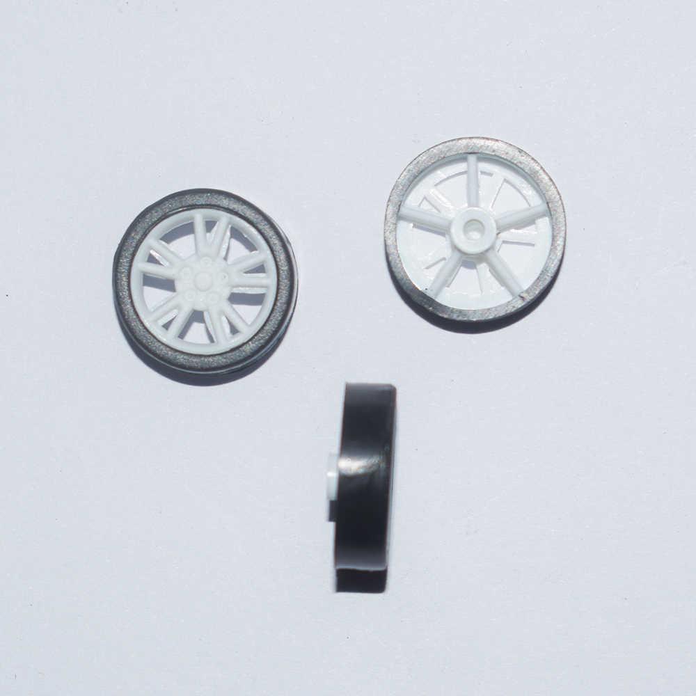 10/100/1000 Uds. 1,5x14mm mini rueda de plástico de goma yuanmbm tamiya diy accesorios de juguete piezas modelo de tecnología/rc/juguetes para bebés 141.5AP